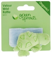 Green Sprouts Organic Cotton Wrist Rattle Turtle 0 Months and Up
