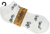 Socks Cotton Patterned Footie Size 10-13 Bicycle