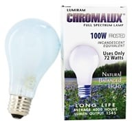 Chromalux A21 100W Frosted Light Bulb Full Spectrum Lamp
