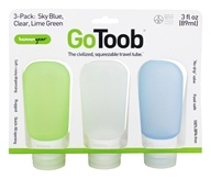 GoToob Squeezable Travel Tube 3-Pack