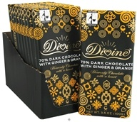 70% Dark Chocolate Bar with Ginger & Orange