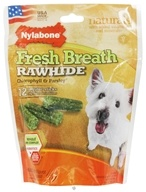Fresh Breath Rawhide With Chlorophyll & Parsley Regular Dog Treats