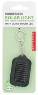 Rubberized Solar Light Keychain With Ultra Bright LED
