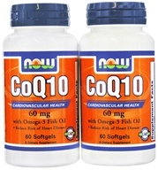 CoQ10 Cardiovascular Health with Omega 3 Fish Oil (60+60) Twin Pack