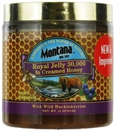 Royal Jelly in Creamed Honey with Wild Huckleberries