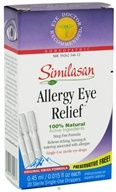 Allergy Eye Relief 100% Natural 20 Single-Use Droppers