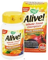 Alive Multi-Vitamin Whole Food Energizer No Iron Added