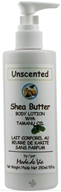 Shea Butter Body Lotion Unscented with Tamanu Oil