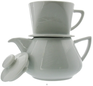 Drip Coffee Pot Porcelain White