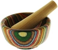 Mortar and Pestle Wood Round