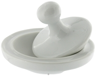 Mortar and Pestle Porcelain Flying Saucer