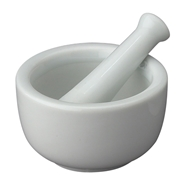 Mortar and Pestle Porcelain Round