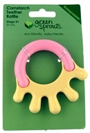 Green Sprouts Cornstarch Hand Teether Rattle 3 Months and Up