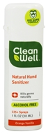 CleanWell - All Natural Hand Sanitizer Alcohol Free Orange Vanilla - 1 oz.