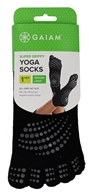 Gaiam - Super Grippy Yoga Socks Black/Black Dots