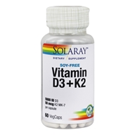 Solaray - Vitamin D-3 5000 IU & K-2