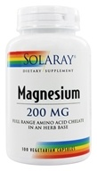 Solaray - Magnesium 200 mg. - 100 Vegetarian