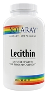 Solaray - Lecithin - 250 Capsules