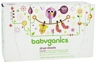 BabyGanics - Dryer Sheets Lavender Scent - 120
