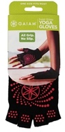 Gaiam - Super Grippy Yoga Gloves Black/Pink Dots