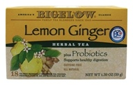 Bigelow Tea - Herb Plus Probiotics Lemon Ginger
