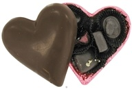 Dark Chocolate Heart Filled with 5 Assorted Vegan Chocolates