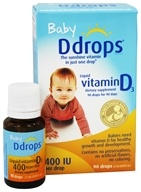 Ddrops - Liquid Vitamin D3 90 Drops for Infants 400 IU - 0.08 oz.