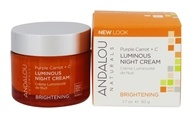 Andalou Naturals - Luminous Night Cream Brightening Purple