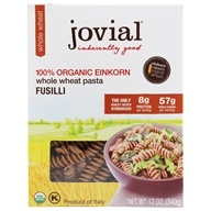 100% Organic Einkorn Whole Wheat Fusilli Pasta