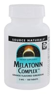 Source Naturals - Melatonin Complex Sublingual Orange Flavored