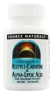 Source Naturals - Acetyl L-Carnitine & Alpha-Lipoic Acid