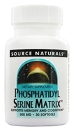 Source Naturals - Phosphatidyl Serine Matrix 500 mg.