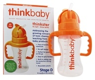 Thinkbaby - Thinkster Straw Bottle Stage D 12 Months to 36 Months Orange - 9 oz.