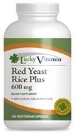 LuckyVitamin - Red Yeast Rice Plus 600 mg. - 120 Vegetarian Capsules
