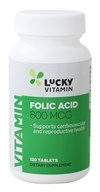 LuckyVitamin - Folic Acid 800 mcg. - 120 Tablets