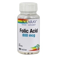 Solaray - Folic Acid 800 mcg. - 100