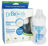 Natural Flow Wide-Neck Baby Bottle 2 Pack