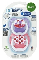 PreVent Orthodontic Pacifiers Unique 0-6m