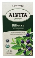 Organic Bilberry Herbal Supplement Tea