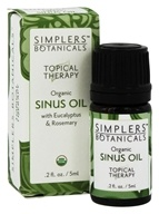 Simplers Botanicals - Topical Therapy Organic Sinus Oil