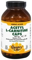 Country Life - Acetyl L-Carnitine Caps 500 mg.