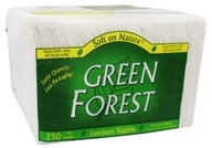 Green Forest - White Paper Luncheon Napkins 100%