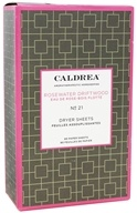Caldrea - Dryer Sheets Rosewater Driftwood - 80
