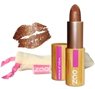Zao Organic Makeup - Pearly Lipstick Golden Brown