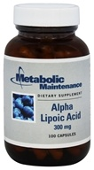 Metabolic Maintenance - Alpha Lipoic Acid 300 mg