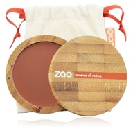 Zao Organic Makeup - Compact Blush Brown Orange