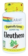 Solaray - Organically Grown Eleuthero - 100 Vegetarian