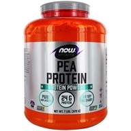 NOW Foods - Pea Protein Pure Non-GMO Vegetable Protein Natural Unflavored - 7 lbs.