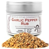 Gustus Vitae - Garlic Pepper Rub Seasoning -