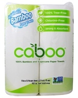 Caboo - 100% Bamboo and Sugarcane 2-Ply Paper Towels 75 Sheets - 2 Roll(s)